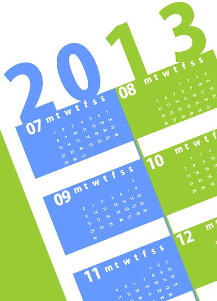 Calendar 2013 2nd half