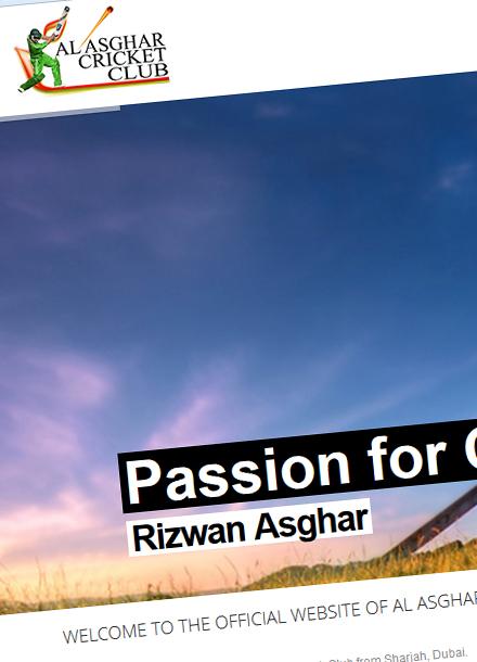 Al Asghar Cricket Club,  Sharjah, U.A.E.